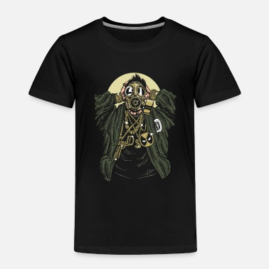 Rap Gasmask Gangsta. The crazy bling bling guy. - Toddler Premium T-Shirt