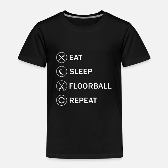 Gift Idea Baby Clothing - Indoor Hockey Floorball Player Sport Team Present - Toddler Premium T-Shirt black