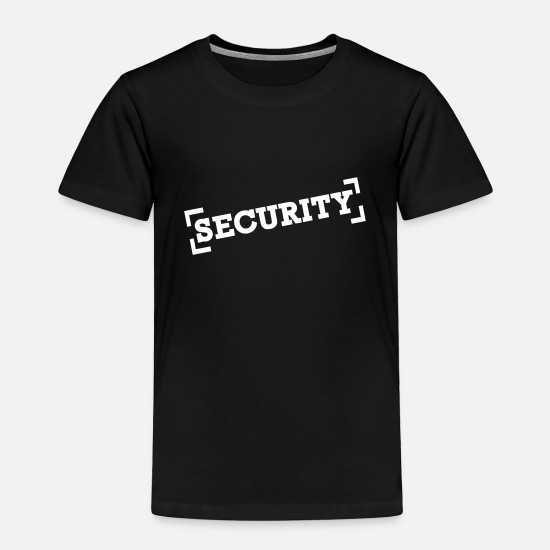 Man Baby Clothing - Security - Toddler Premium T-Shirt black