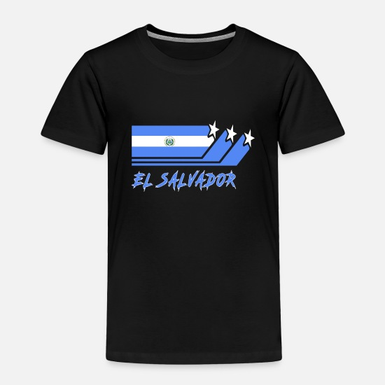 Country Baby Clothing - El Salvador Flag / Gift National Flag - Toddler Premium T-Shirt black