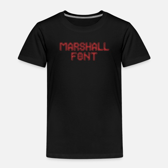Marshall Baby Clothing - Marshall font - Toddler Premium T-Shirt black