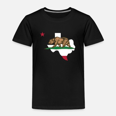 California Texas California Funny Pride Flag Apparel - Toddler Premium T-Shirt