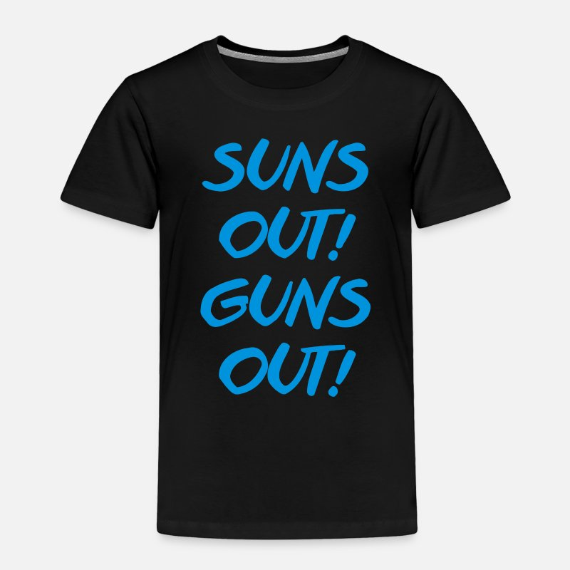 Movie Baby Clothing - Suns Out Guns Out - Toddler Premium T-Shirt black
