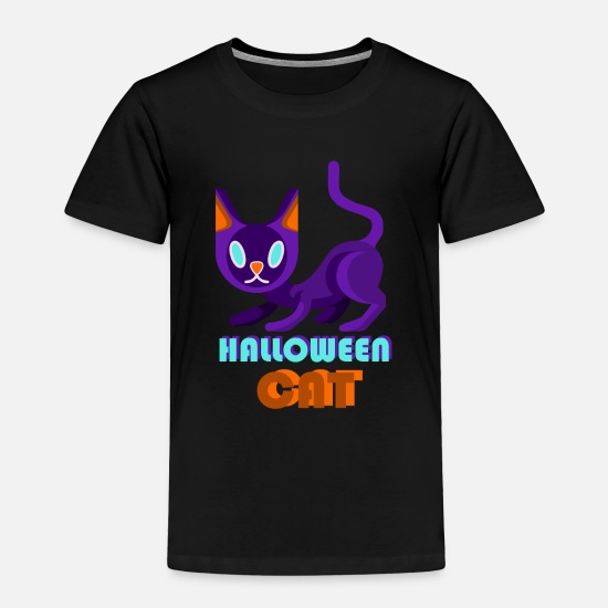 Catholic Baby Clothing - HALLOWEEN CAT - Toddler Premium T-Shirt black