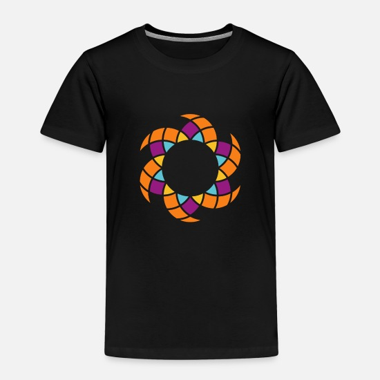 Sun Baby Clothing - Another Yoga Mandala Sun Orange - Toddler Premium T-Shirt black