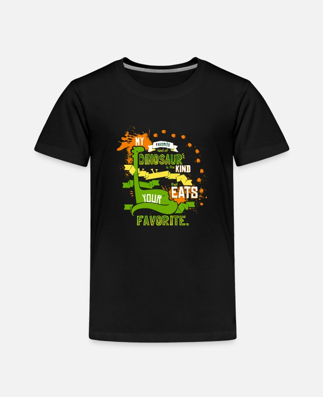 Game T-Shirts - My Favorite Dinosaur - Toddler Premium T-Shirt black
