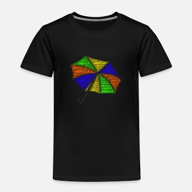 School Umbrella Shirt Word Cloud Presents - Toddler Premium T-Shirt