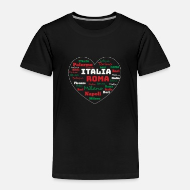 Spaghetti ITALY HEART ITALIA CUORE CLOUD HOLIDAY (ORIGINAL) - Toddler Premium T-Shirt