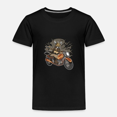 Motocross Viking Motorcycle - Toddler Premium T-Shirt
