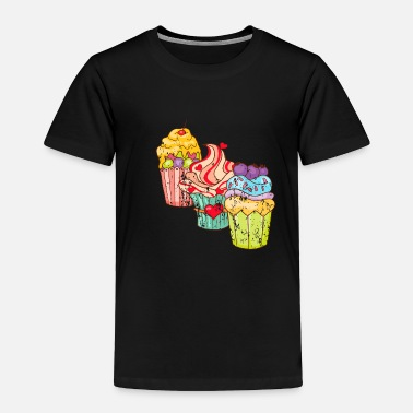 Candy Cupcakes Muffins Retro Vintage Grunge Style - Toddler Premium T-Shirt