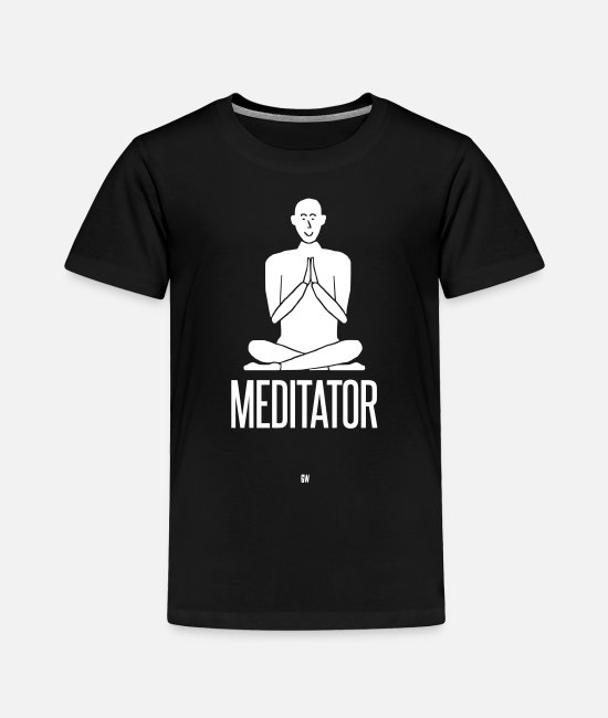 Zen T-Shirts - Meditator - Toddler Premium T-Shirt black