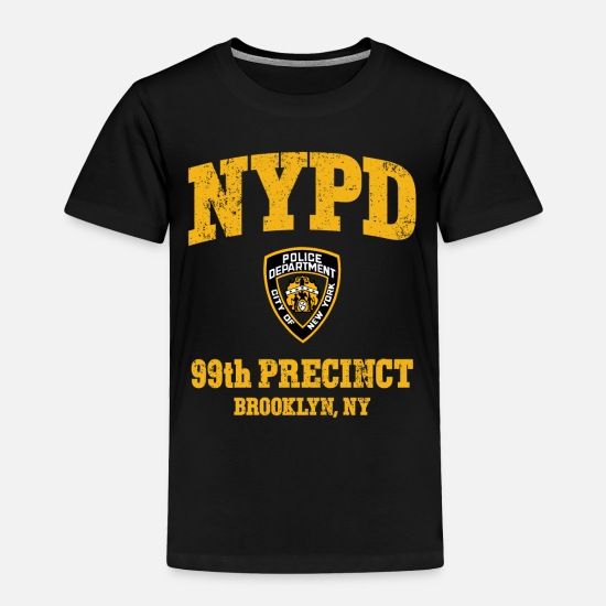 Brooklyn Baby Clothing - 99th Precinct - Brooklyn NY - Toddler Premium T-Shirt black