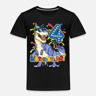B Day Trex Dinasour 4th B-DAY - Toddler Premium T-Shirt