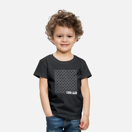 School Baby Clothing - School Again Shirt Back To School Happy Tee Gift - Toddler Premium T-Shirt black