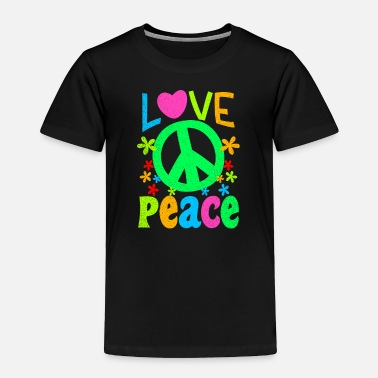 70s 60s Groovy Love Peace Sign Gift - Toddler Premium T-Shirt