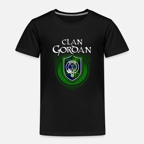 Gordan Surname Scottish Clan Tartan Crest Badge Toddler