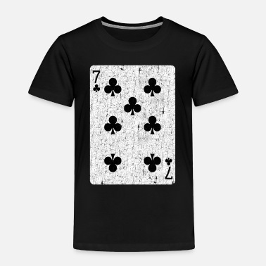 Sit seven of clubs playing card - Toddler Premium T-Shirt
