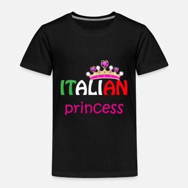 Italian Italian Princess Tiara Italy Flag graphic - Toddler Premium T-Shirt
