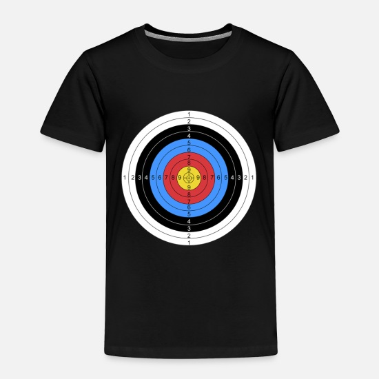 Archer Baby Clothing - Archery and Gun Range Target Practice Graphic - Toddler Premium T-Shirt black