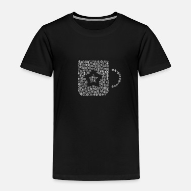 Form Snow Wordcloud of a cup form (white) - Toddler Premium T-Shirt