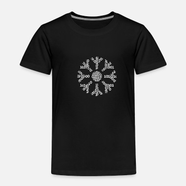 Present Binäre Wortwolke in snow Form (white) - Toddler Premium T-Shirt