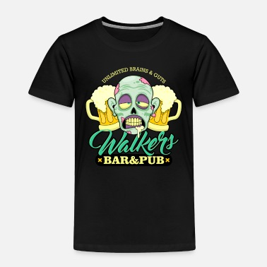 Bar Pub Zombie Walkers Bar and Pub Beer Halloween - Toddler Premium T-Shirt