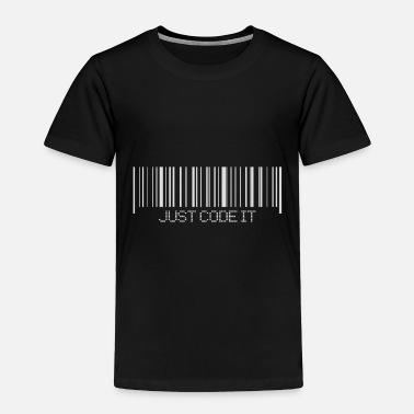 A bar code design for Programmers - Toddler Premium T-Shirt