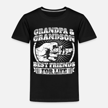Grandad Grandpa Grandson Friend Grandparent Kids Child Tee - Toddler Premium T-Shirt
