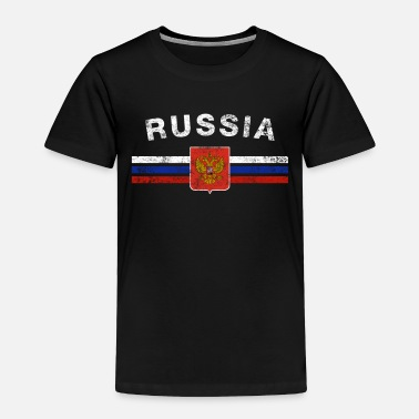 Womens Russian Flag Russian Flag Shirt - Russian Emblem & Russia Flag - Toddler Premium T-Shirt