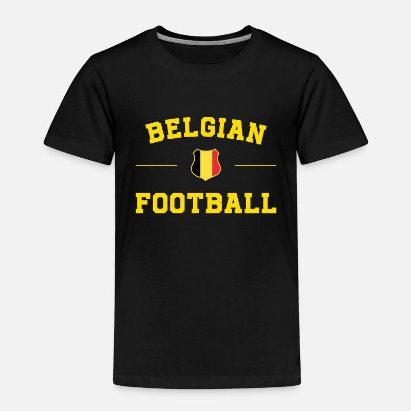 70c90f0e4fc Belgium Baby Clothing - Belgium Football Shirt - Belgium Soccer Jersey -  Toddler Premium T-