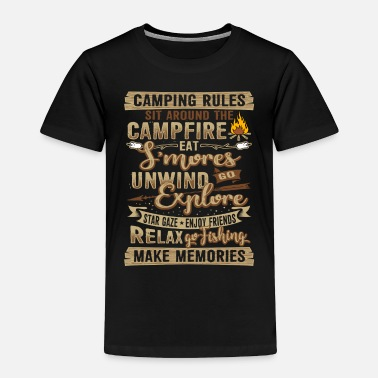 Camping Camping Campfire Present Gift - Toddler Premium T-Shirt