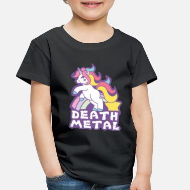 Death Death Metal Unicorn Shirt - Gift - Toddler Premium T-Shirt