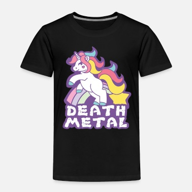 Metal Death Metal Unicorn Shirt - Gift - Toddler Premium T-Shirt