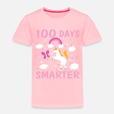 School 100 Days Smarter Unicorn 100 Days of School T Sh - Toddler Premium T-Shirt