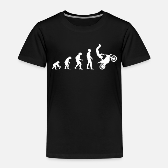 Motorcycle Baby Clothing - Evolution Motorcyle - Toddler Premium T-Shirt black
