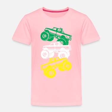 Monster Monster Truck Cool Shirt - Toddler Premium T-Shirt