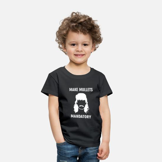 Redneck Baby Clothing - Redneck Hillbilly Hair Mullet Lives Matter - Toddler Premium T-Shirt black