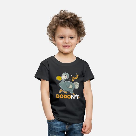 Dodo Bird Baby Clothing - Just Dodo Bird Shirt - Toddler Premium T-Shirt black