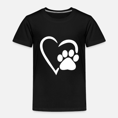 Rescue heart dog paw dog mom womens shirt gift print - Toddler Premium T-Shirt