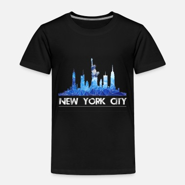City New York City Skyline in blue - Toddler Premium T-Shirt