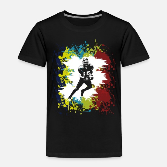 Game Baby Clothing - rugby athlete silhoutte player gift idea - Toddler Premium T-Shirt black