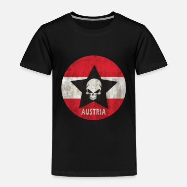 Austria Austria star with skull - Toddler Premium T-Shirt