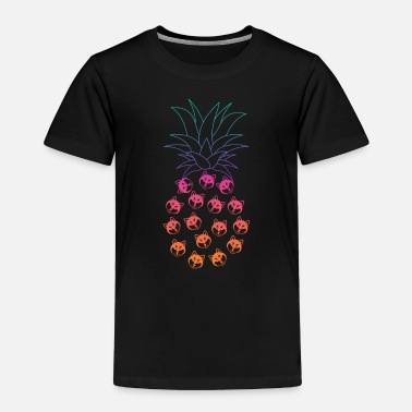 Tuxedo Funny and Cute Husky Pineapple Design - Toddler Premium T-Shirt