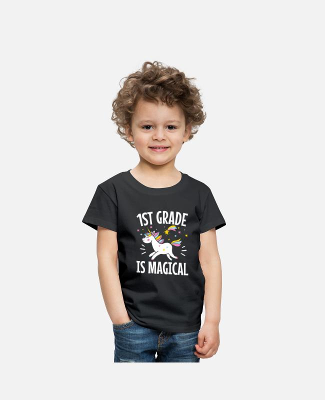 School Beginner T-Shirts - 1st Grade Is Magical - Toddler Premium T-Shirt black