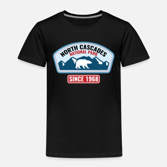 Canoe Baby Clothing - North Cascades National Park Gift or Souvenir Design - Toddler Premium T-Shirt black