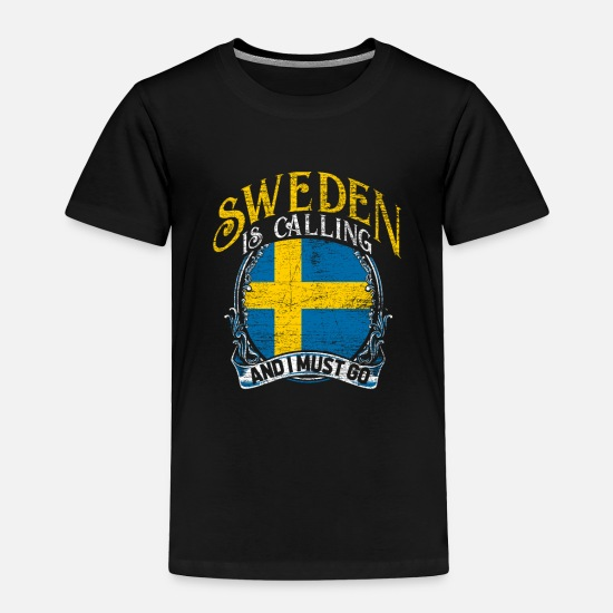 Flag Baby Clothing - Sweden - Toddler Premium T-Shirt black