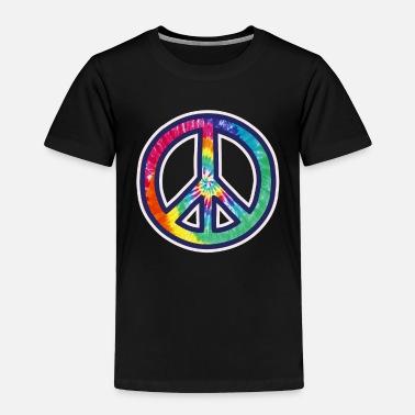 2a8b666c2c19 Hippie Tie Dye Peace Sign Colorful Reggae Music Love Peace - Toddler  Premium T-Shirt