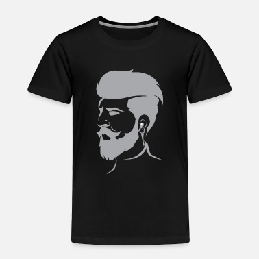 Undercut Beard Bearded Hipster Earpods Airpods Hairstyle - Toddler Premium T-Shirt