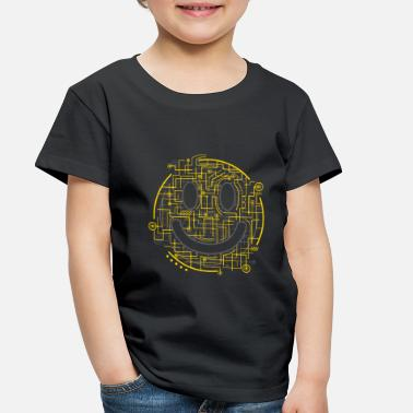 Technology Positively Electric Smiley Face - Toddler Premium T-Shirt