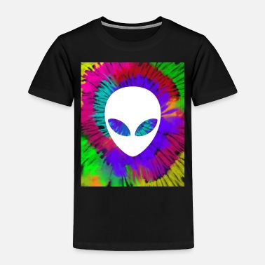 Rave Rainbow tie dye alien head tye die trippy rave - Toddler Premium T-Shirt